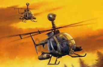 model helicopter,model helicopters,MD530G GUNSHIP -- Plastic Model Helicopter Kit -- 1/35 Scale -- #3526