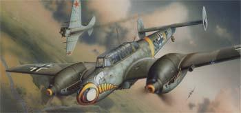 model planes,model airplane,1/48 Bf110E WWII German Heavy Fighter (Profi-Pack Plastic Kit) (Re-Issue)
