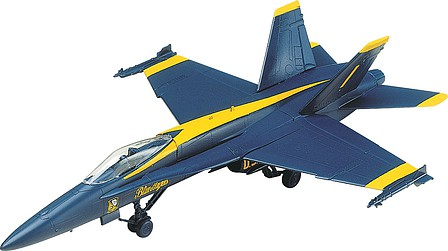plastic airplane model kit,scale model aircraft,F-18 Blue Angel -- Snap Tite Plastic Model Aircraft Kit -- 1/72 Scale -- #851185
