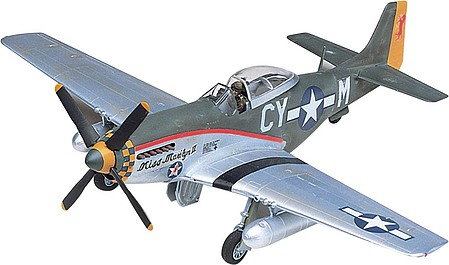 model planes,model airplane,P-51D Mustang -- Plastic Model Airplane Kit -- 1/48 Scale -- #855241