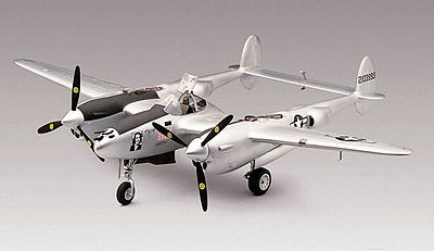model airplane,plastic airplane model,P-38J Lightning -- Plastic Model Airplane Kit -- 1/48 Scale -- #855479