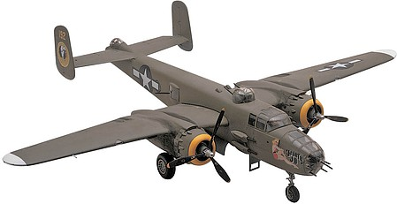 plastic airplane model,model planes,B25J Mitchell Bomber -- Plastic Model Airplane Kit -- 1/48 Scale -- #855512