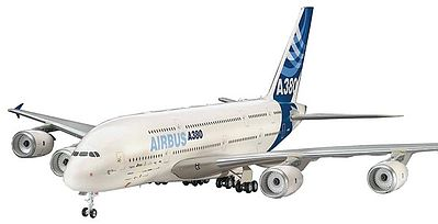 airplane model kits,Airbus A380 First Flight Aircraft -- Plastic Model Airplane Kit -- 1/144 Scale -- #04218