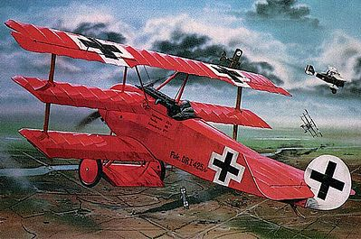 model planes,plastic airplane model,Fokker DR.I Manfred Von Richthofen Triplane -- Plastic Model Airplane Kit -- 1/28 Scale -- #04744