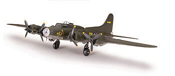 plastic airplane model kit,scale model aircraft,B-17 Flying Fortress -- Snap Tite Plastic Model Aircraft Kit -- 1/100 Scale -- #890003