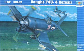 plastic airplane model,model planes,Vought F4UF Corsair -- Plastic Model Airplane -- 1/32 Scale -- #02222