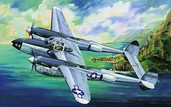 P38L-5-LO Lightning Fighter -- Plastic Model Airplane -- 1/32 Scale -- #02227